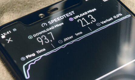 Mobilní připojení k internetu a jeho test rychlosti na telefonu.